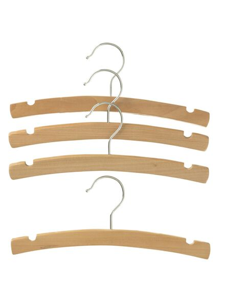 4-pack wooden children's clothes hangers - 39890008 - hema