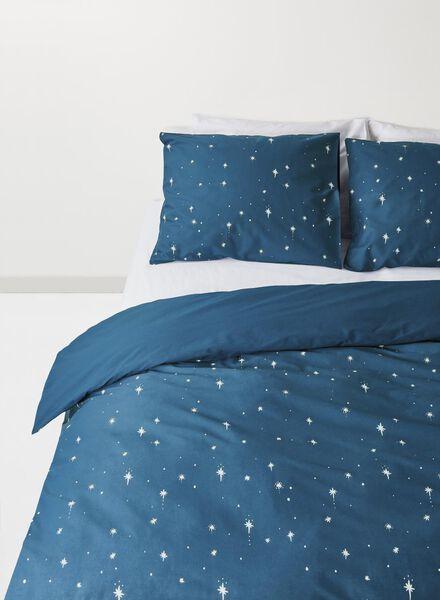housse de couette-coton doux-200x200cm-bleu étoiles Grey 200 x 200 - 5710039 - HEMA