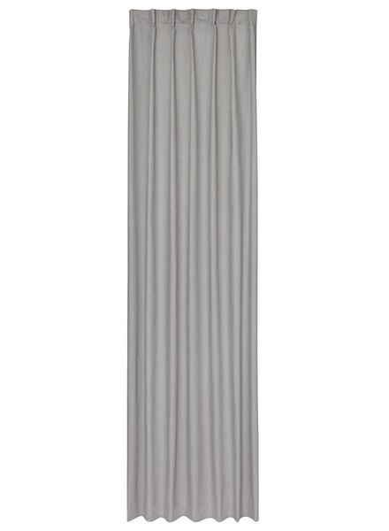 ready-to-use curtain with pleated band grey - 7632120 - hema