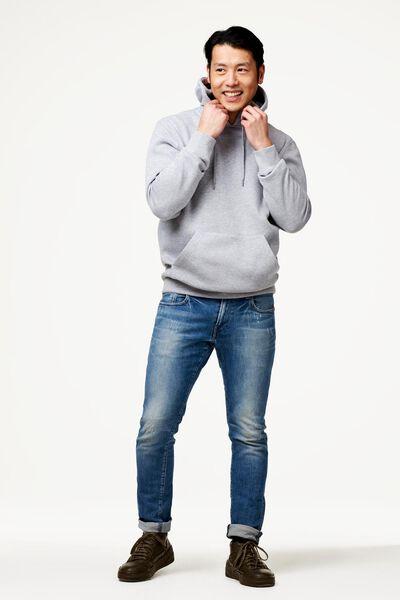 Herren-Kapuzenshirt graumeliert graumeliert - 1000022451 - HEMA