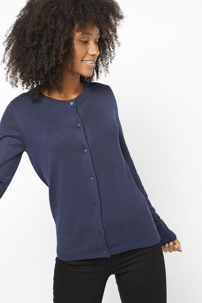 Damen-Cardigan dunkelblau dunkelblau - 1000021219 - HEMA