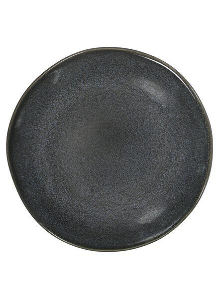 assiette à dessert - 16,5 cm - Porto émail réactif - noir - 9602032 - HEMA