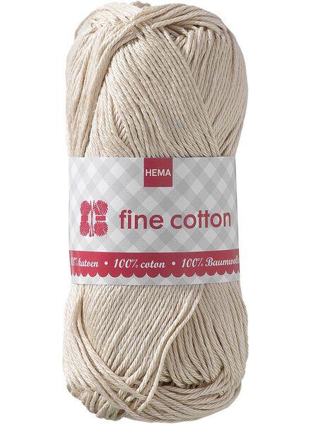 Strickgarn, Fine Cotton Fine Cotton beige - 1400011 - HEMA