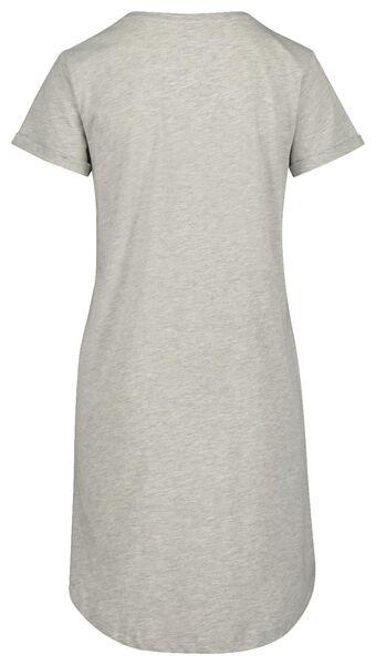 women's nightshirt grey melange grey melange - 1000018929 - hema