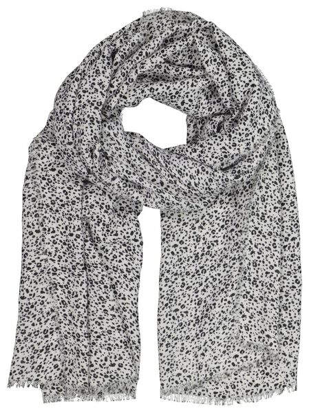 women's scarf 200x80 white with dots - 1790011 - hema