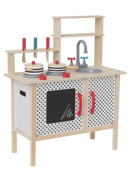 cuisine en bois avec ustensiles de cuisine 78.5 x 65 x 29.5 cm - 15122480 - HEMA