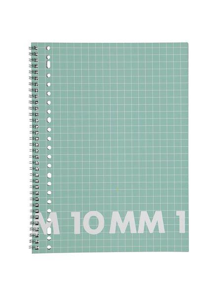 3 Collegeblöcke DIN A4, kariert 10 x 10 mm - 14101656 - HEMA