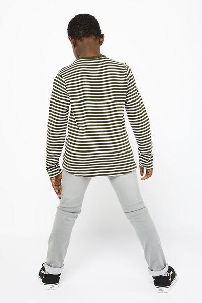children's sweater stripes army green army green - 1000022281 - hema