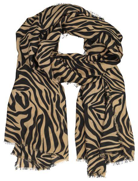 écharpe femme 200x80 camel zèbre - 1790016 - HEMA