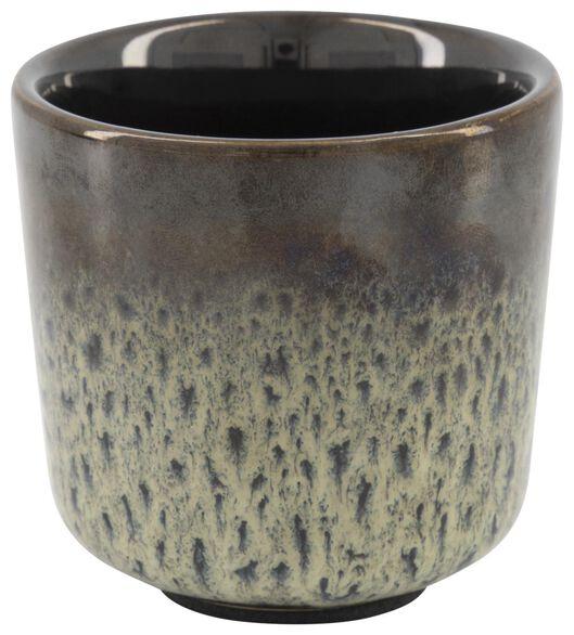 cache-pot Ø6.5x6.5 - glaçage réactif - bleu/vert - 13322050 - HEMA
