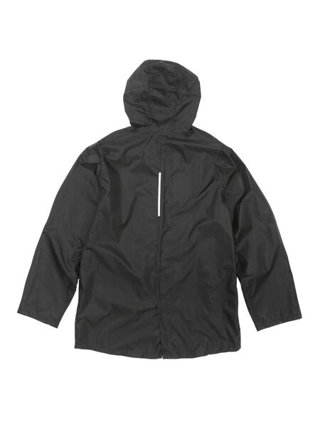 foldable unisex raincoat black black - 1000006261 - hema