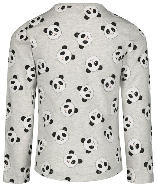 Kinder-Pyjama mit Bambus, Panda graumeliert graumeliert - 1000021077 - HEMA