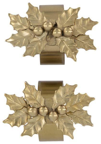 2 serviette rings magnetic holly - 25640014 - hema