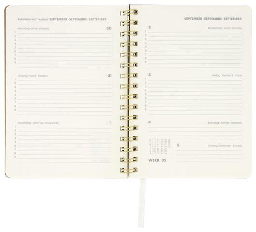 Schülerkalender 2021-2022, braun, Punkte, DIN A5, 21 x 15 cm - 14500514 - HEMA