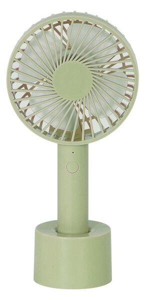 ventilateur à main USB Ø10cm vert mat - 80060027 - HEMA