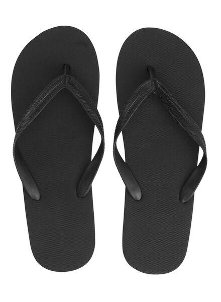 men's flip-flops black black - 1000006725 - hema