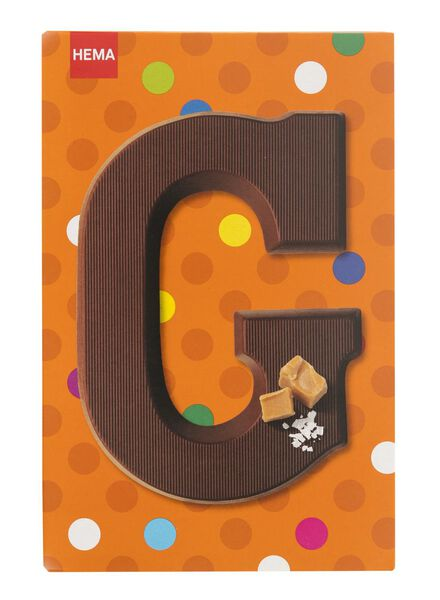 caramel sea salt milk chocolate letter G - 10039007 - hema