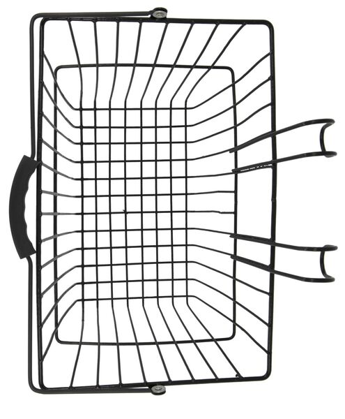 bicycle basket 25x39x20 black - 41120028 - hema