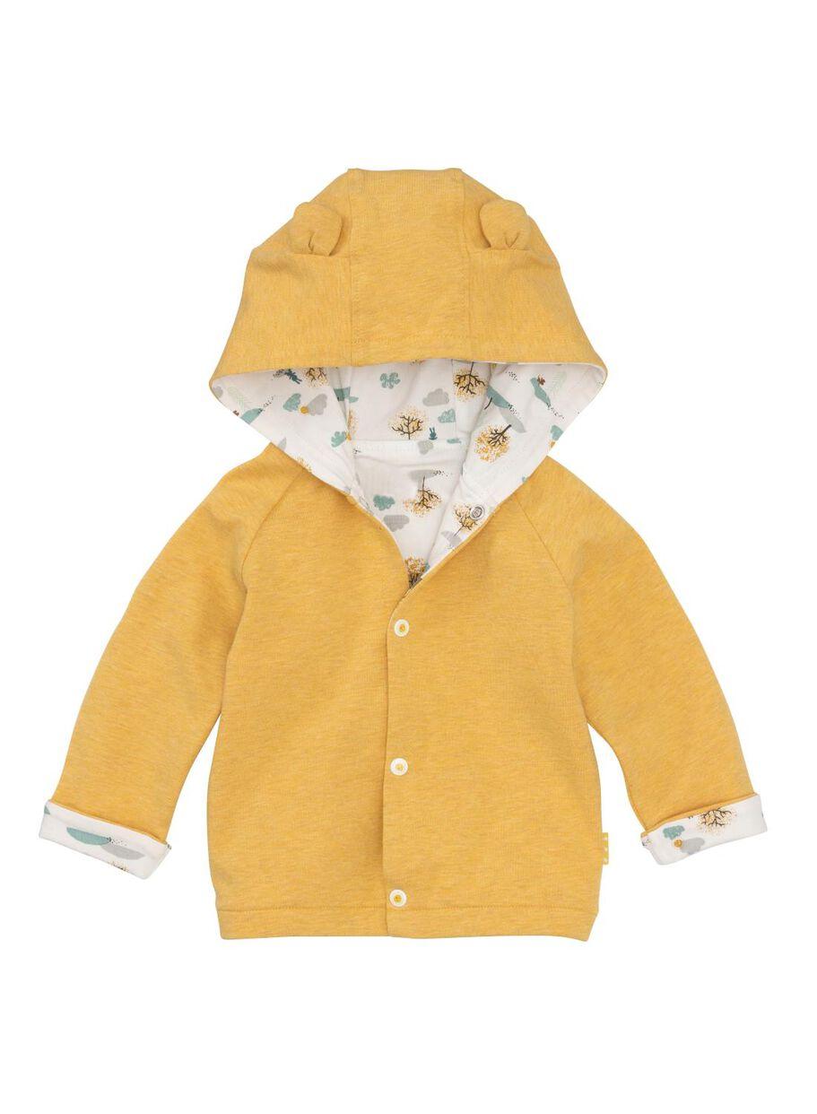 bf37453ac newborn baby jacket yellow - HEMA
