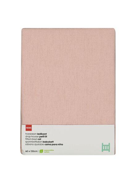 hoeslaken ledikant 60x120 - roze - 33348244 - HEMA