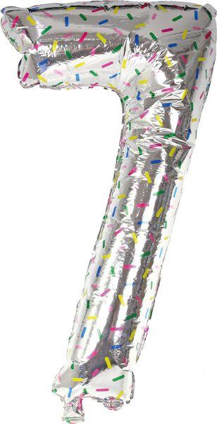 foil balloon XL number 0-9 silver silver - 1000019538 - hema