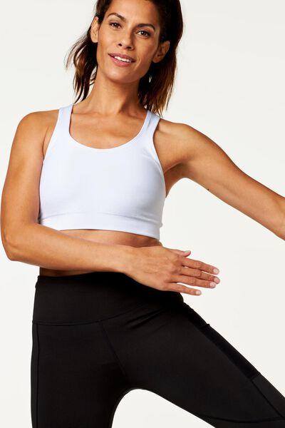 sports bra medium white white - 1000002451 - hema