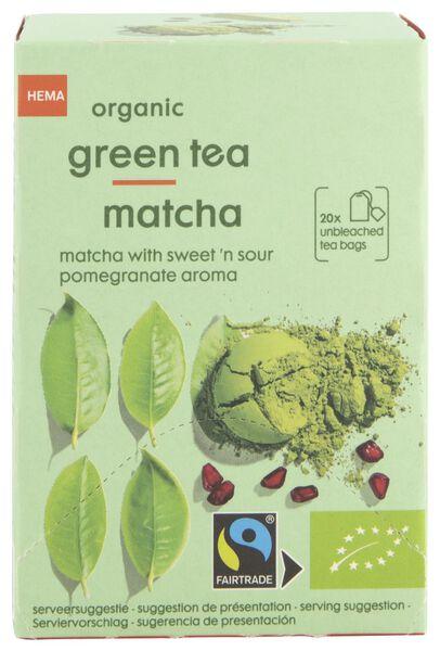 thee bio groene thee matcha 20 stuks - 17190010 - HEMA