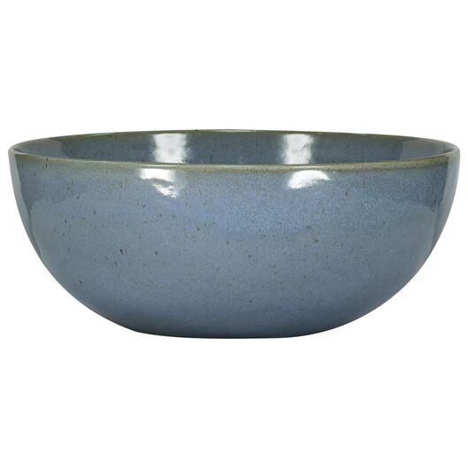 HEMA Schale Porto, 26 Cm, Reaktive Glasur, Blau