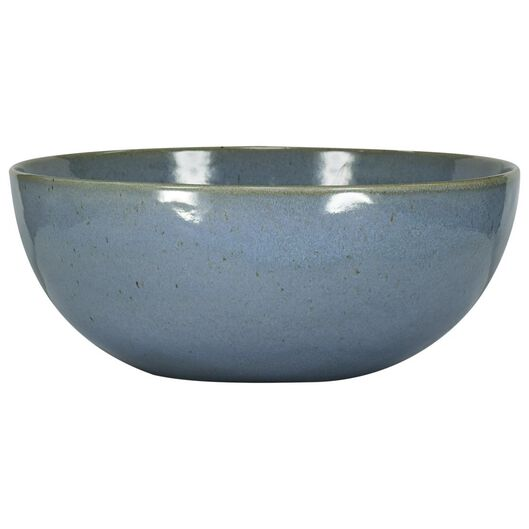 bowl - 26 cm - Porto - reactive glaze - blue - 9602028 - hema