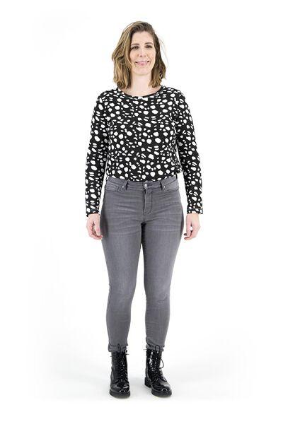 women's jeans - shaping skinny fit mid grey 36 - 36337534 - hema