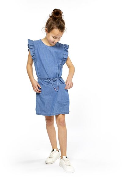 children's dress denim denim - 1000018989 - hema