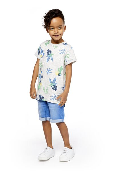 Kinder-Shorts, Comfy Fit mittelblau 98/104 - 30763138 - HEMA