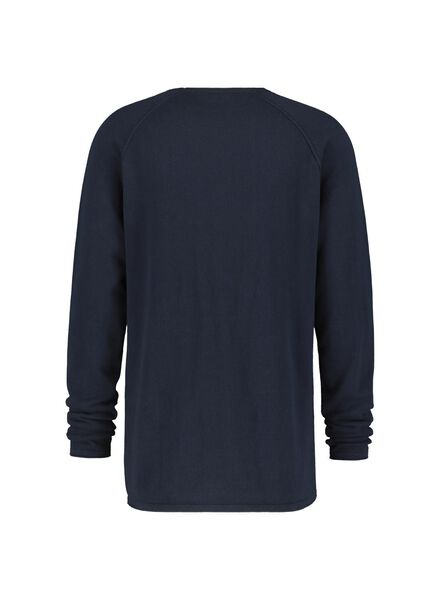 knitted men's sweater - organic cotton dark blue dark blue - 1000016880 - hema