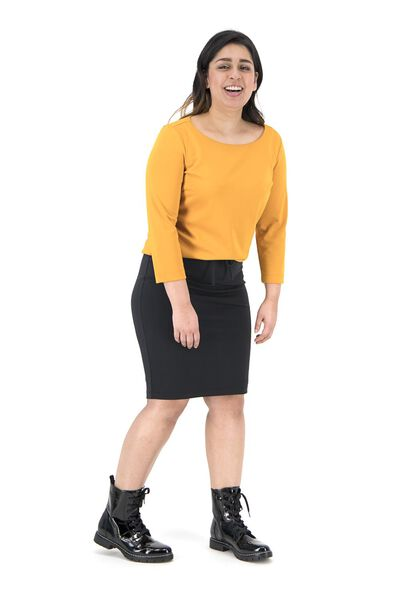 women's top yellow ochre yellow ochre - 1000019288 - hema
