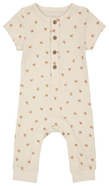 Newborn-Jumpsuit, Waffelstruktur eierschalenfarben eierschalenfarben - 1000023384 - HEMA