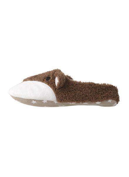 women's slippers dark brown dark brown - 1000006337 - hema