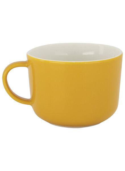 mug à cappuccino Chicago 330 ml jaune - 9602107 - HEMA