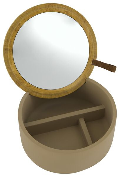 boîte à bijoux avec miroir Ø13x6 - 80310026 - HEMA