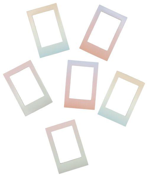 6cadres aimantés pour photos Instax avec dégradé de couleurs - 60300535 - HEMA