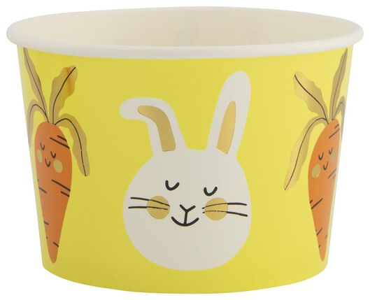 5 small paper bowls 10 cm Easter yellow - 25810107 - hema