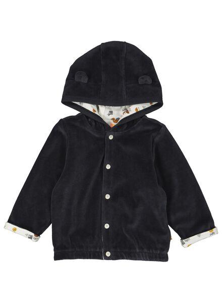 HEMA Newborn Jacke Mit Kapuze Velours Grau