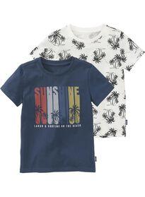 4d2c33c5fbffe t-shirts enfant - 2 pièces bleu