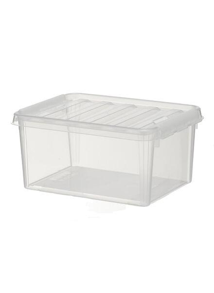 storage box 34x25x16 Brussels transparent 34 x 25 x 16 transparent - 39822510 - hema