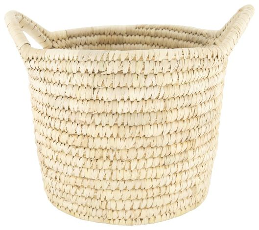 storage basket reed - 20.5 x Ø 20.5 cm - natural - 39821002 - hema
