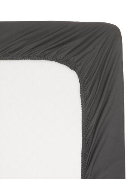 drap-housse - hôtel percale de coton gris foncé gris foncé - 1000013998 - HEMA