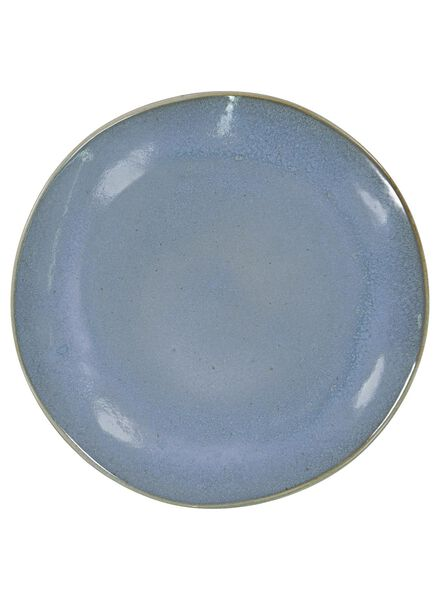 Speiseteller Porto – 26 cm – reaktive Glasur – blau - 9602021 - HEMA