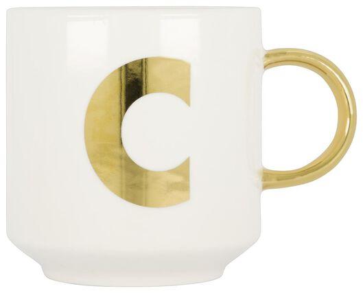 mug en faïence blanc/doré 350 ml - C - 61120098 - HEMA
