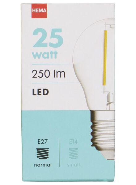 LED-Kugellampe, 25 W, 250 lm, klar - 20020030 - HEMA