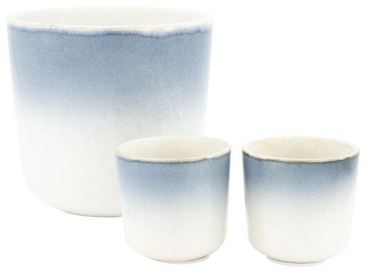 pot de fleurs glaçage réactif bleu Ø 6,8 cm - 13391021 - HEMA