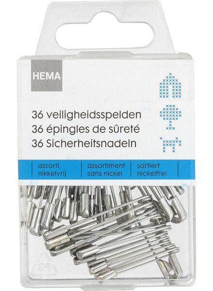 36-pack safety pins various - 1474050 - hema